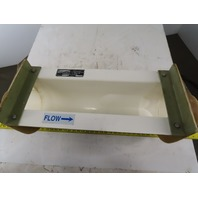 "Engineered Fiberglass 6"" Perm P-B Parshall Flume 6"" x 33"" OAL 8"" Head Height"
