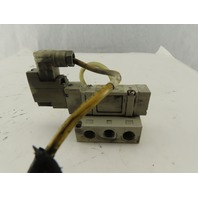 SMC SY7140-3DZ 5/2 Pneumatic Valve 110V Single Solenoid