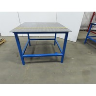 "48-1/4"" x 48-1/4"" x 36-1/2"" Tall Steel Top Welding Assembly Fabrication Bench"