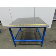 "48"" x 48"" x 36-1/4"" Tall Steel Top Welding Assembly Fabrication Bench"