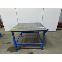 "48"" x 48"" x 36-1/2"" Tall Steel Top 3/8 Welding Assembly Fabrication Bench Table"