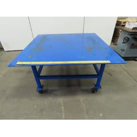 "60-1/2"" x 60"" Steel Top Mobil Fabrication Welding Assembly Table Bench 32"" Tall"