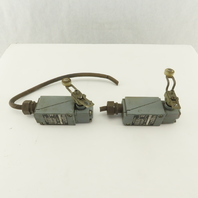 Allen Bradley 802T-HP 600V 10A Oil Tight Roller Cam Lever Limit Switch Lot Of 2