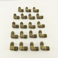 "1/2-14  Male Flare x 1/2"" NPT Brass Elbow Lot Of 19"