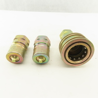 """DynaQuip DH12 Female Quick Disconnect Coupling 2 Males one Female 3/4"""" NPT Lot/3"""