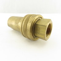 """Foster H8 Brass Quick Connect Hydraulic Fitting Female & Male 1"""" NPT Lot of 2"""
