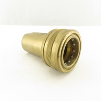 """Foster H8 Brass Quick Connect Hydraulic Fitting Female  1"""" NPT"""