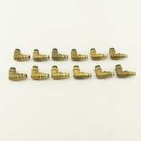 "Prestolok 5/16 Push To Connect Brass Elbow 1/8"" NPT Lot Of 12"