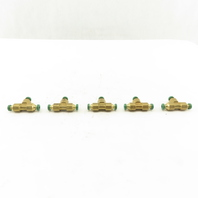 Prestolok 1/8 Capillary Tube Push To Connect Brass TEE Lot Of 5
