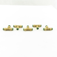 "Prestolok 1/4"" Push To Connect Brass Tube Fitting TEE Lot Of 5"