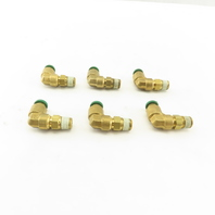 "Prestolok 1/4"" Push To Connect Brass Elbow 1/4 NPT Lot Of 6"