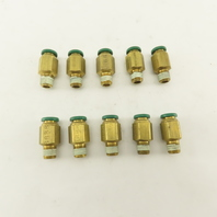 "Prestolok 5/16 Push To Connect Brass Fitting 1/8"" NPT Lot Of 10"