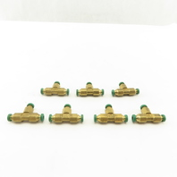 Prestolok 5/32 Push To Connect Brass TEE Fitting Lot OF 7