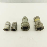 Parker D45 Series 12 Hydraulic Quick Connect Fittings Male Female 3/4 FPT 2 Sets