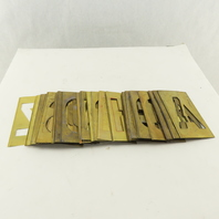 "Reece 93 4""Brass Stencils Vintage Lockedge Alphabet  Used 40+"