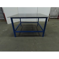 "3/8"" Thick Top Steel Fabrication Welding Table Work Bench 60-3/4x60-3/4x36-1/2"""