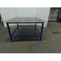 "3/8"" Thick Top Steel Fabrication Welding Table Work Bench 60-3/4""x60""x37"""