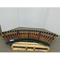 "36"" Wide 90° Gravity Roller Conveyor 34"" BF 1.90 Rollers"