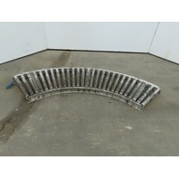 "18"" Wide 90° Aluminum Gravity Roller Conveyor 16"" BF 1-3/8"" Rollers"