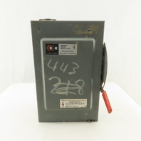 Cutler Hammer DG222NGB 120/240V Fused 2 Pole Safety Disconnect Switch