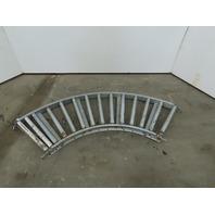 "18"" Wide 90° Galvanized Steel Gravity Roller Conveyor 16"" BF 1-3/8"" Rollers"