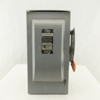 Siemens GF322NR 60A 3 Pole Fused Safety Disconnect 3R Enclosure 240V AC/DC