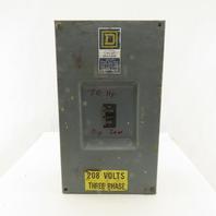 Square D 200A 240VAC 3 Pole Enclosed Circuit Breaker