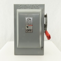 Siemens HF362 60A 3 Pole 600V AC/DC Fusible Disconnect Switch