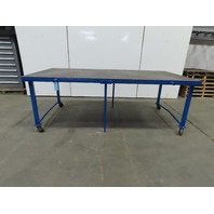 "1/2"" Thick Top Steel Fabrication Welding Table Work Bench 96-1/2"" x 48""x 34-1/4"""
