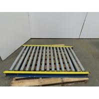 """31""""x48"""" Gravity Roller Conveyor 28"""" BF 3"""" Centers 1.90 Dia Rollers"""