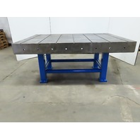 "70""x 50""x 31"" Cast Iron Slotted Welding Layout Inspection Assembly Table Bench"