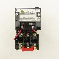 Square D 8536SBO2V02S 600V 3Ph 3 Pole 5Hp Size 0 Contactor Starter