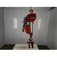Jet 2SS-3-20 2 Ton (4400lb) Electric Chain Hoist 20' lift 12.1 Fpm 230/460V 3Ph