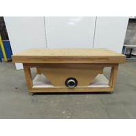 "Custom 36""W x 80""L x 35""H Downdraft Sanding Table Wood Working"