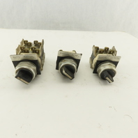 Allen Bradley 800T-H2 800-J2 2 And 3 Position Selector Switches Lot Of 3