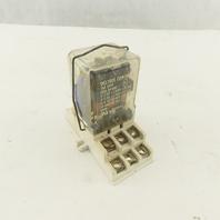 Deltrol 166 3PDT 600V 3/4Hp 120V Coil Relay Ice Cube W/ Base
