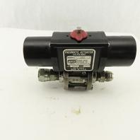 """Gemini A512 125PSI Pneumatic Actuator 3/4"""" Stainless 1000PSI Valve"""
