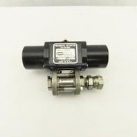 """Gemini A512SR 125PSI Pneumatic Actuator 3/4"""" Stainless 1000PSI Valve"""