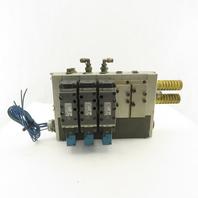 SMC VSS8-6-FG-S-3EZ-V1 5 Port Manifold W/ Valves 24V Coils
