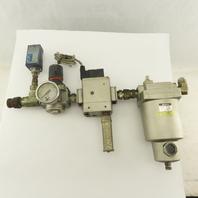 "SMC AM550-N06-T 3/4"" Pneumatic Filter Regulator Mist Separator Assembly"