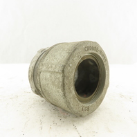 """Crouse Hinds CGB 1-1/2"""" Cable Strain Relief Box Connector 2"""" Galvanized"""
