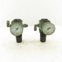 "Numatics R10R-02 1/4"" Air Pressure Regulator Lot Of 2"