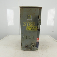 Square D Class 8539 SCA53 600V 10Hp Size 1 Combination Starter Disconnect
