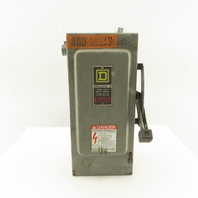 Square D H361 30A 600V AC/DC Fused 3 Pole Safety Disconnect Switch