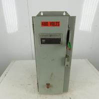 GE CR387 460V 3Ph 10Hp 110V Control 15A Service Disconnect Combination Starter