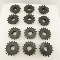 "60BS17HX1 7/16 #60BS 17 Tooth Roller Chain Sprocket 1-7/16"" Keyed Bore Lot of 12"