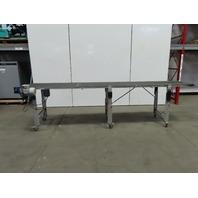"""Dorner 144"""" (12') Slider Bed Belt Conveyor 24"""" Wide 0-72 FPM 115V Single Phase"""