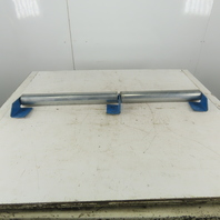 "2-1/2"" x 38-3/4"" BF Gravity Roller Conveyor Snubber Split Roll W/Brackets"