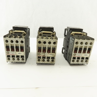 General Electric CL02A310T 600V 10kW 13.5Hp 120V Coil Contactor Lot Of 3
