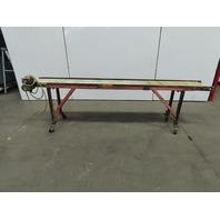 """Aluminum 94"""" Slider Bed Belt Conveyor 11-1/2"""" wide 32 FPM 115V Single Phase"""